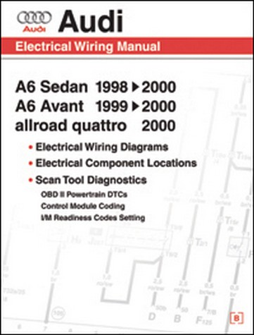 audi a6, avant & allroad quattro 1998-2000 electric wiring manual
