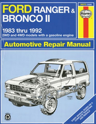 1985 Ford Ranger and Bronco II Repair Shop Manual 85